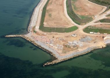 Construction of the yacht-marina