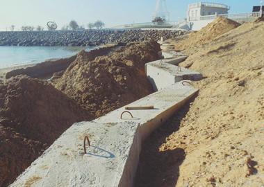 Preparation for the winter - shore strengthening
