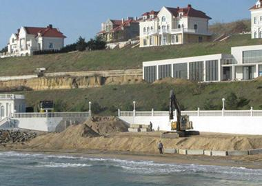 Reconstruction of retaining wall has been completed