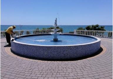 Regular cleaning of fountains