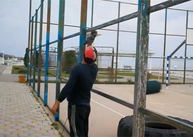 Repair of sports ground